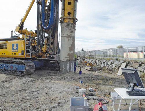 Erschütterungsmessung beim Bau der Umfahrung Wieselburg