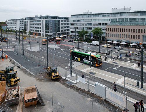 Umbau der Straßenbahn- und Bushaltestelle am Heidelberger Hauptbahnhof