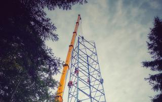 380 KV Leitung wird gebaut