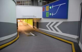 Entrance underground parking Sillpark Shopping centre