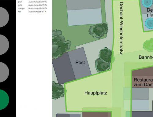 Digitalisierung in St. Johann in Tirol – digitale Ampel misst Auslastung am Wochenmarkt