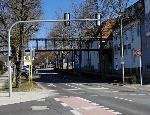NOx reduction by means of dynamic speed displays in Herrenberg